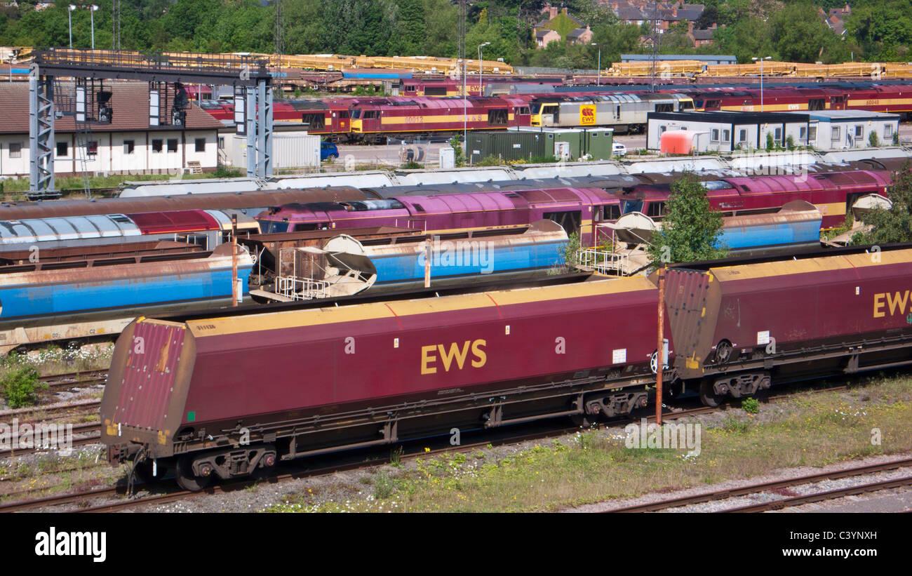 Toton sidings railway yard Toton Nottingham Nottinghamshire England GB UK EU Europe - Stock Image
