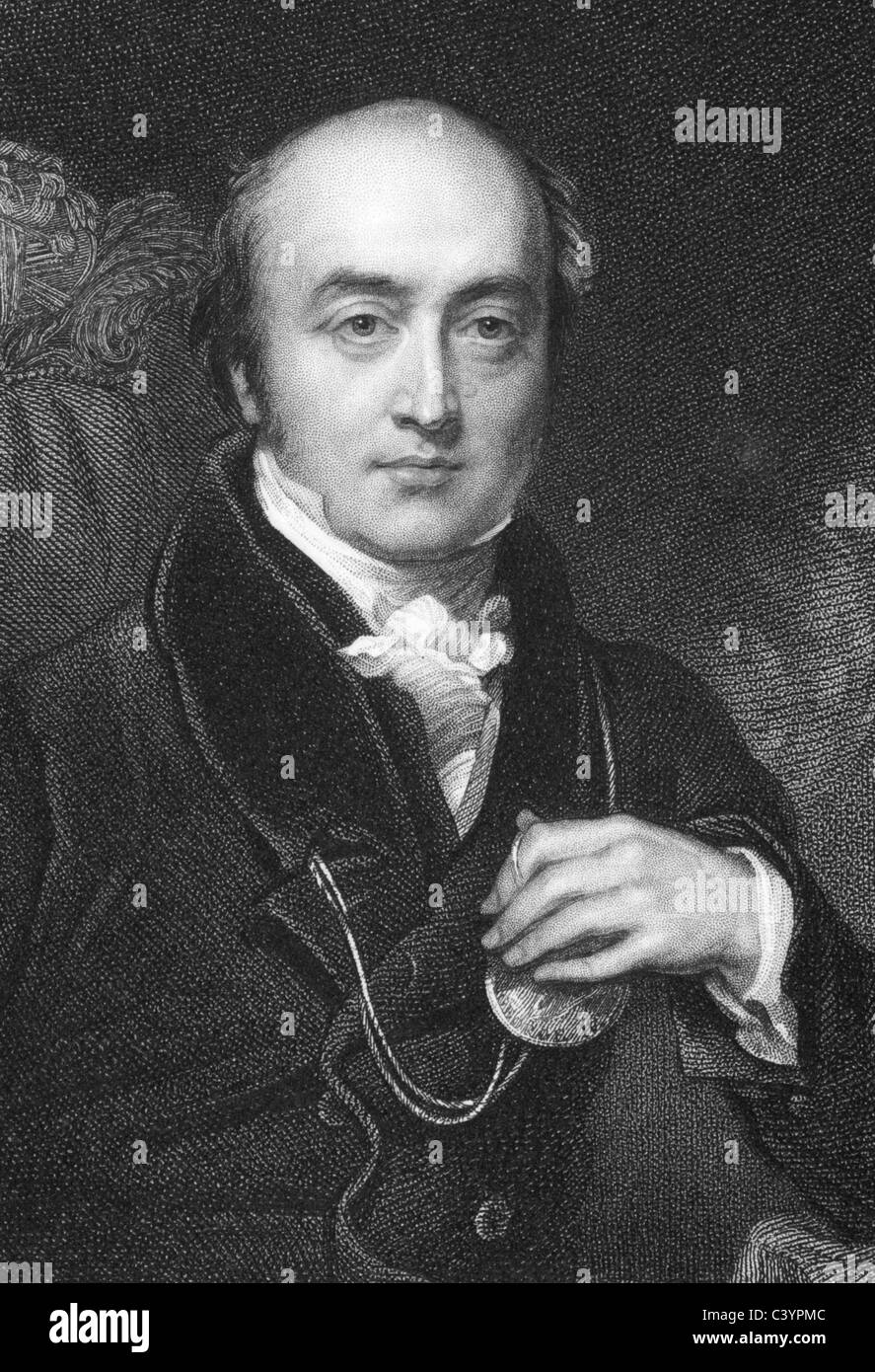 Sir Thomas Lawrence (1769-1830) on engraving from 1832. English portrait painter and president of the Royal Academy. - Stock Image