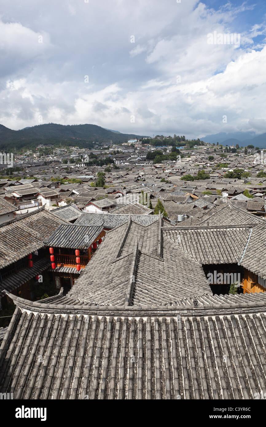 lijiang: the ancient town of dayan Stock Photo