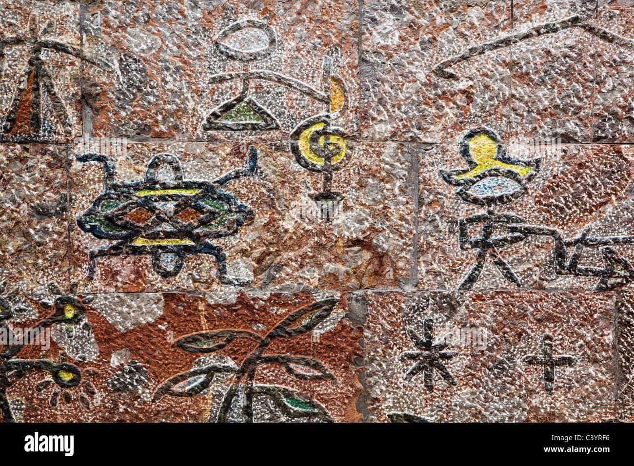 lijiang: ancient pictograph - Stock Image