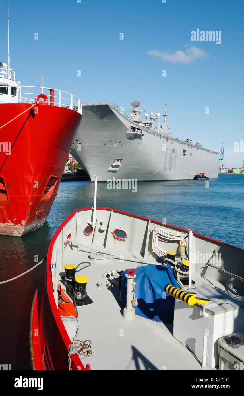 Spanish navy ship Juan Carlos I L61 visiting Las Palmas, Gran Canaria in May 2011 - Stock Image