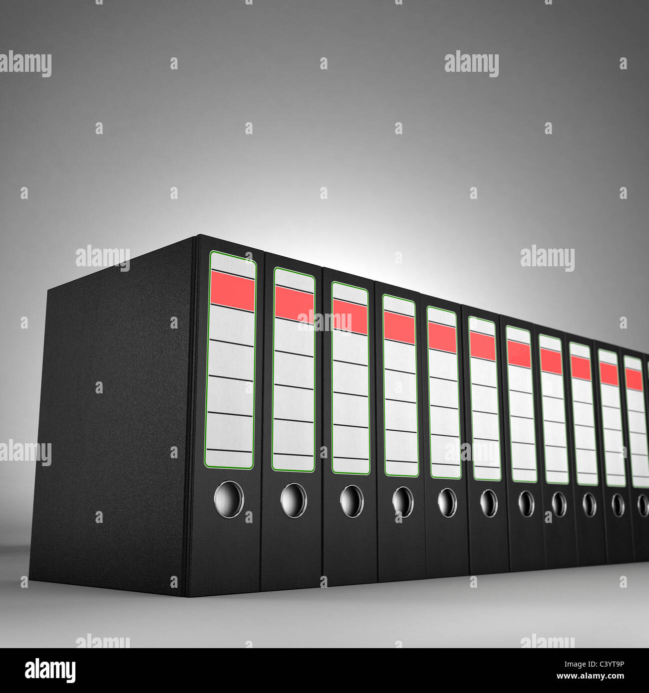 Ring binders - Stock Image