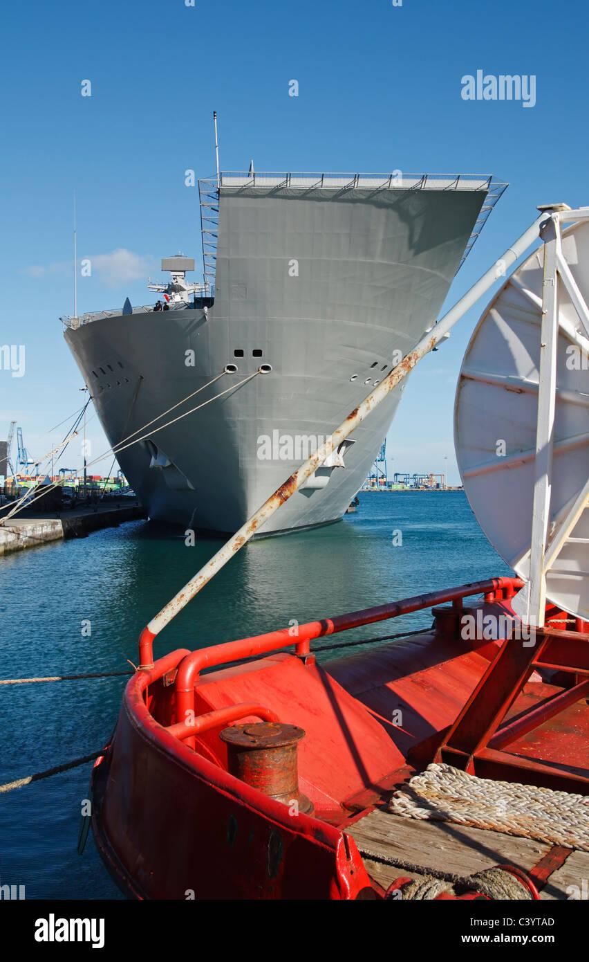 Spanish navy ship Juan Carlos I visiting Las Palmas, Gran Canaria in May 2011 - Stock Image