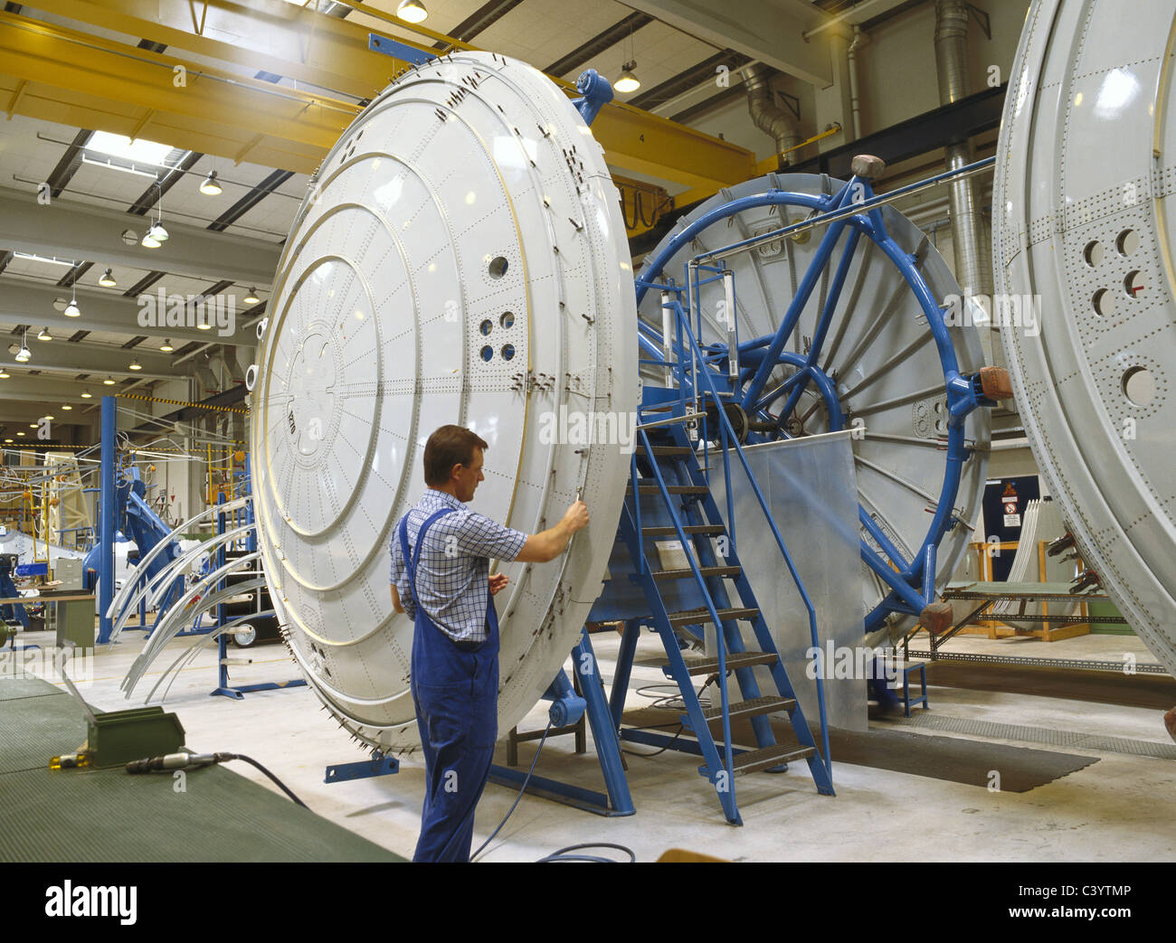 Adult, Aeronautics, Aeroplane, Airbus, Aircraft, Airplane, Assembling, Assembly, Aviation, Eads, Engineer, Engineering, - Stock Image