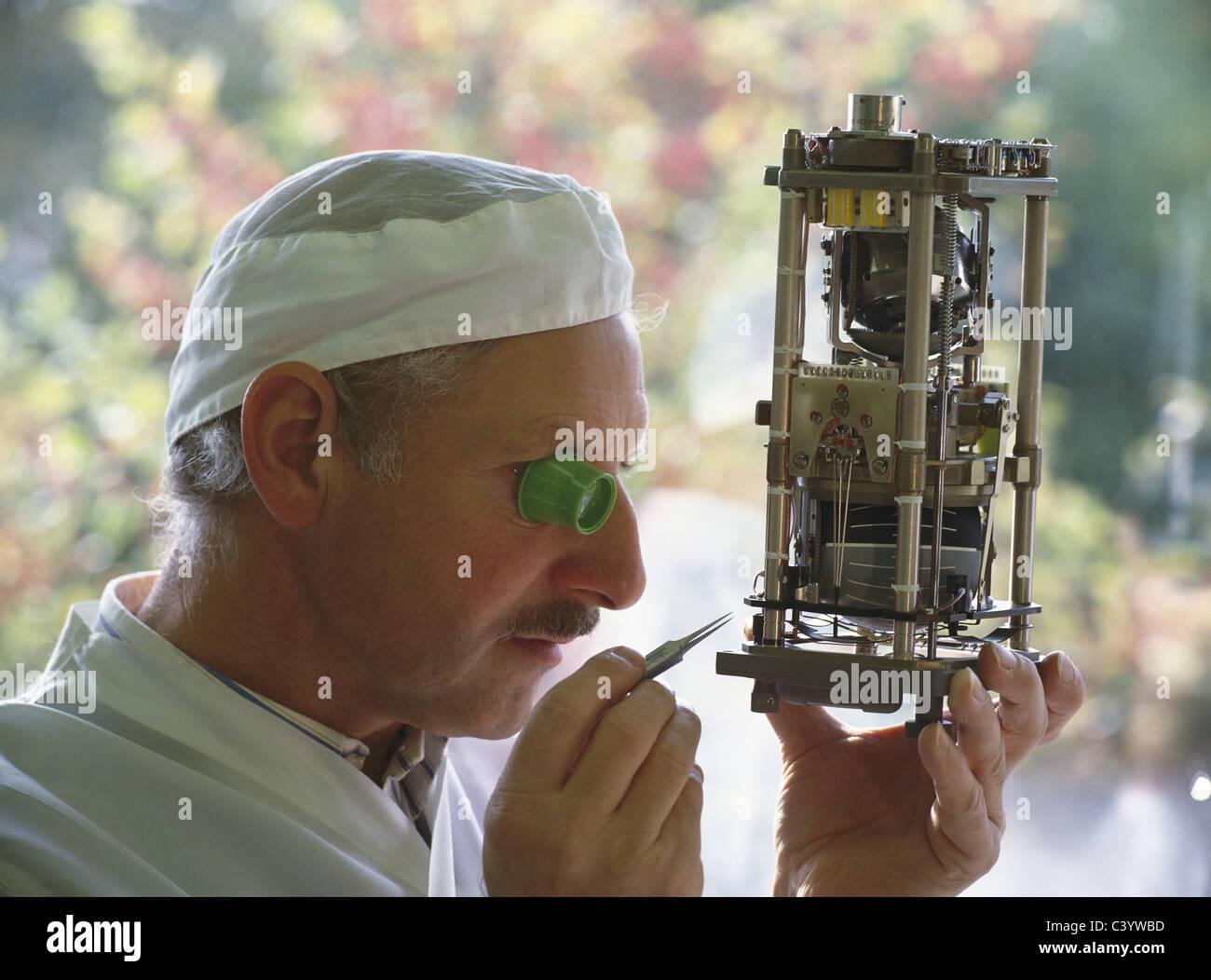 Adult, Aeronautics, Aeroplane, Aerospace, Aircraft, Assembling, Assembly, Aviation, Caucasian, Constructing, Construction, - Stock Image