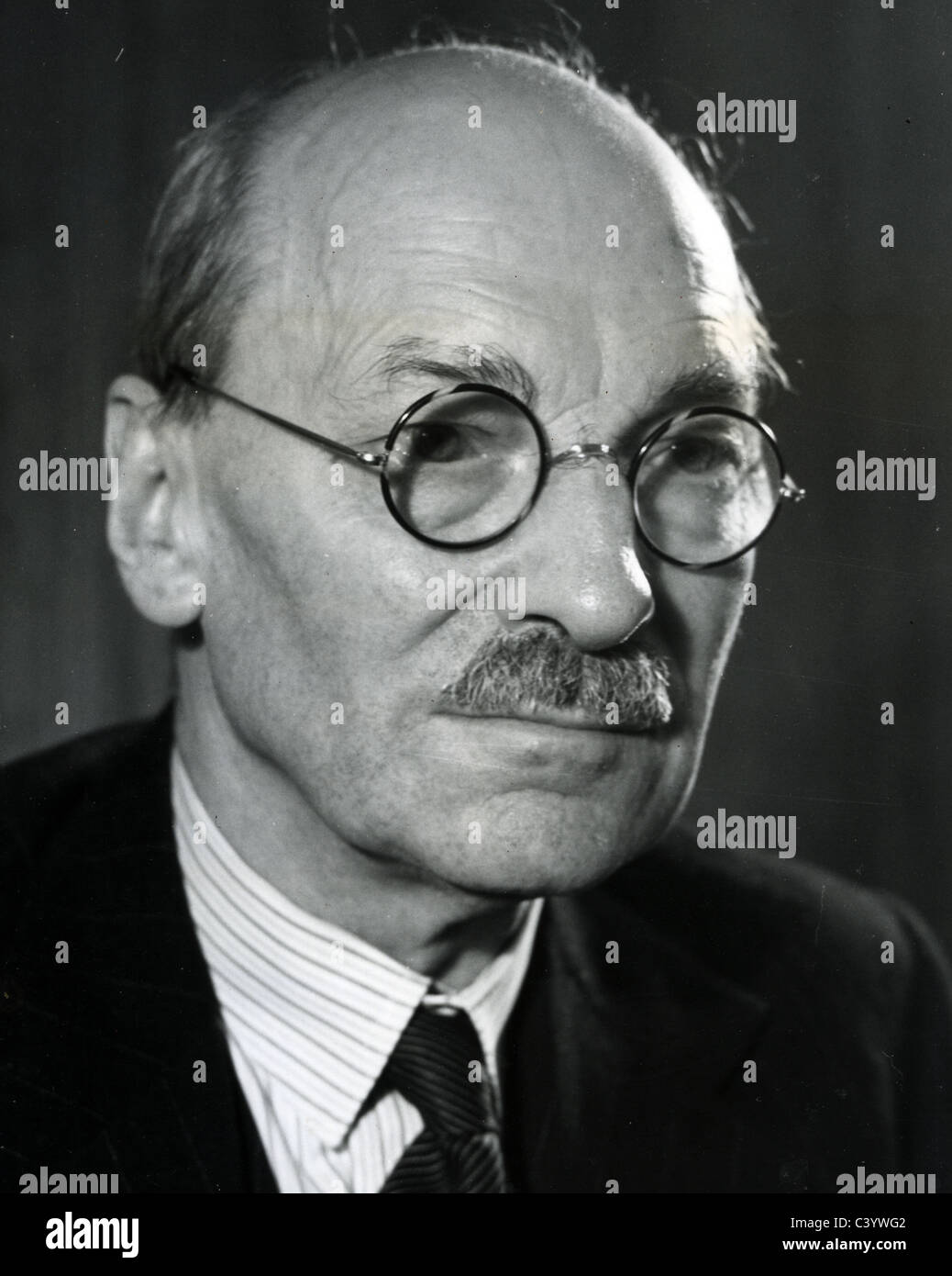 CLEMENT ATTLEE (1883-1967) as British Labour Prime Minister in 1946 - Stock Image