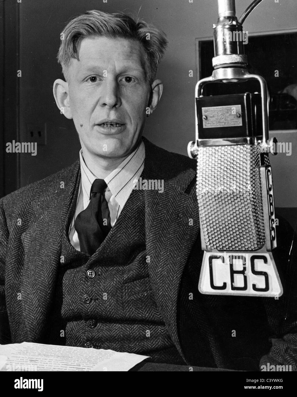 w h auden 1907 1973 anglo american poet on an american radio stock