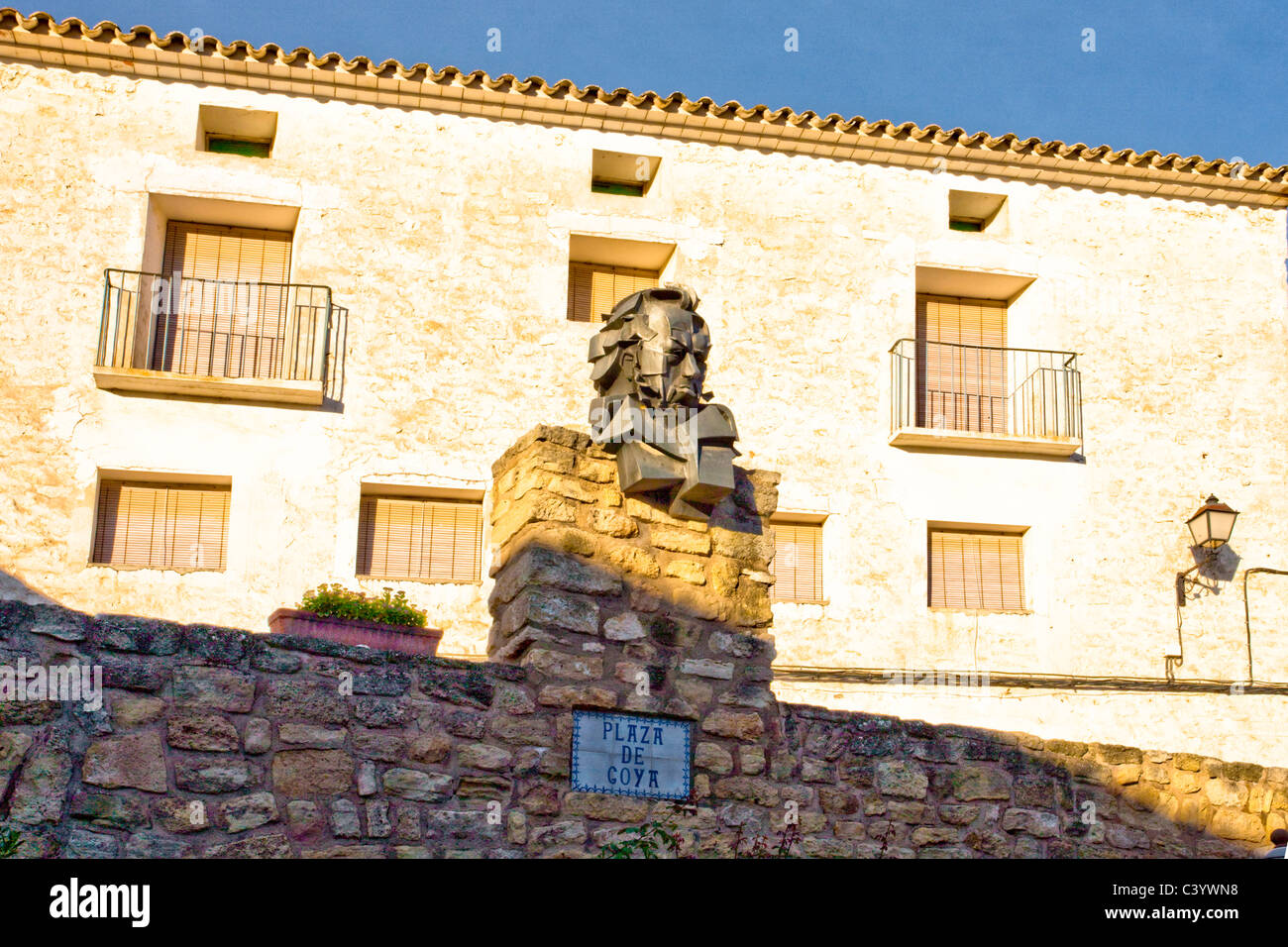Spain, Europe, Aragon, Fuendetodos, Goya, plastic, - Stock Image