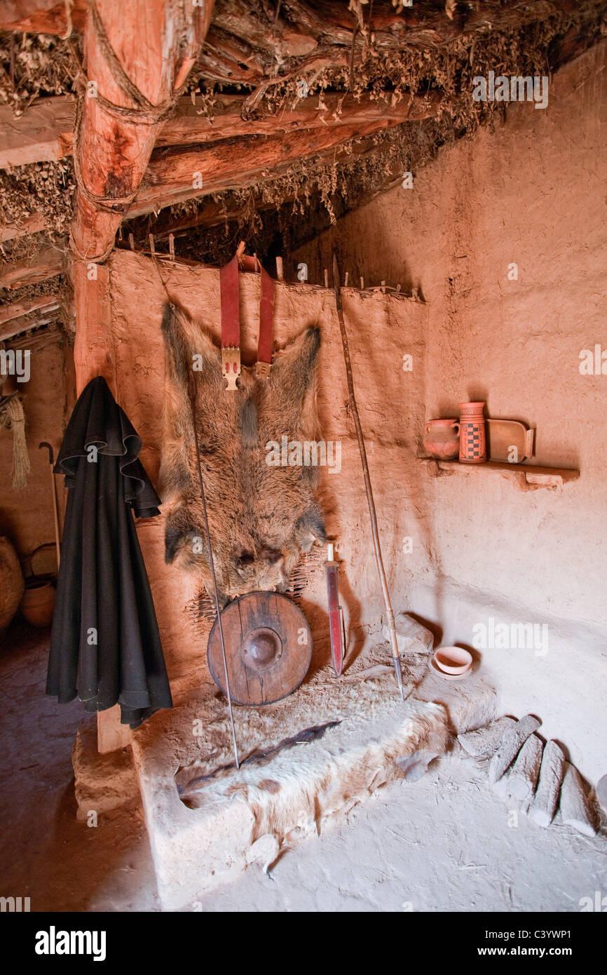 Spain, Europe, Soria, ruins, Numancia, inside, building, construction, - Stock Image