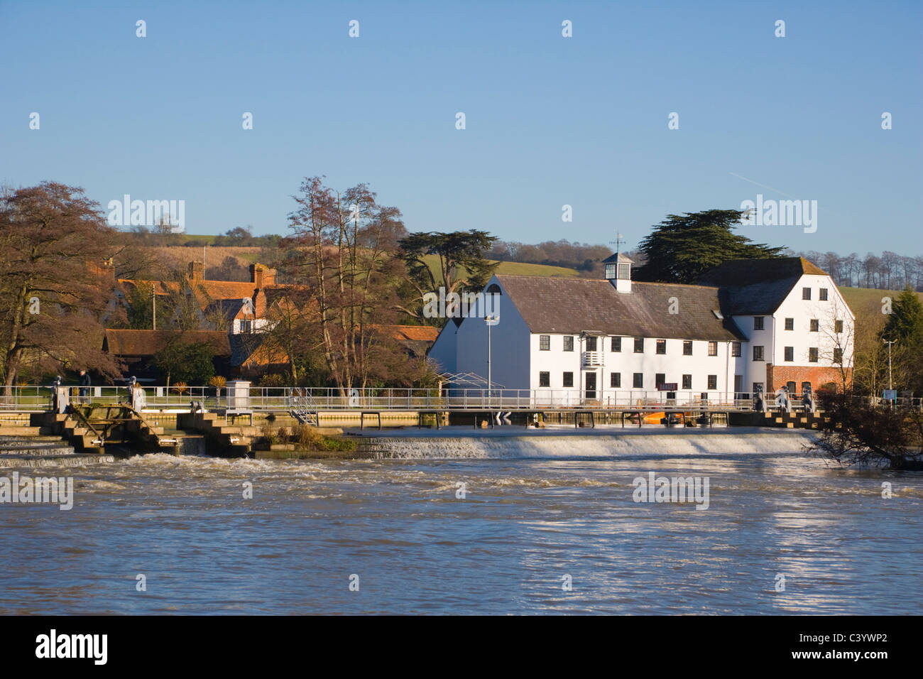 Hambleden Mill downstream of Henley-on-Thames. Oxfordshire. England. UK. - Stock Image