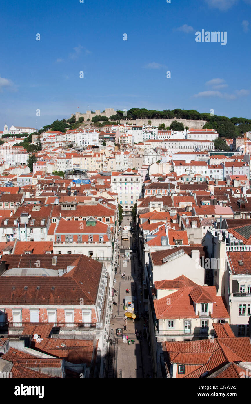 Portugal, Europe, Lisbon, castle, roofs, Old Town, - Stock Image