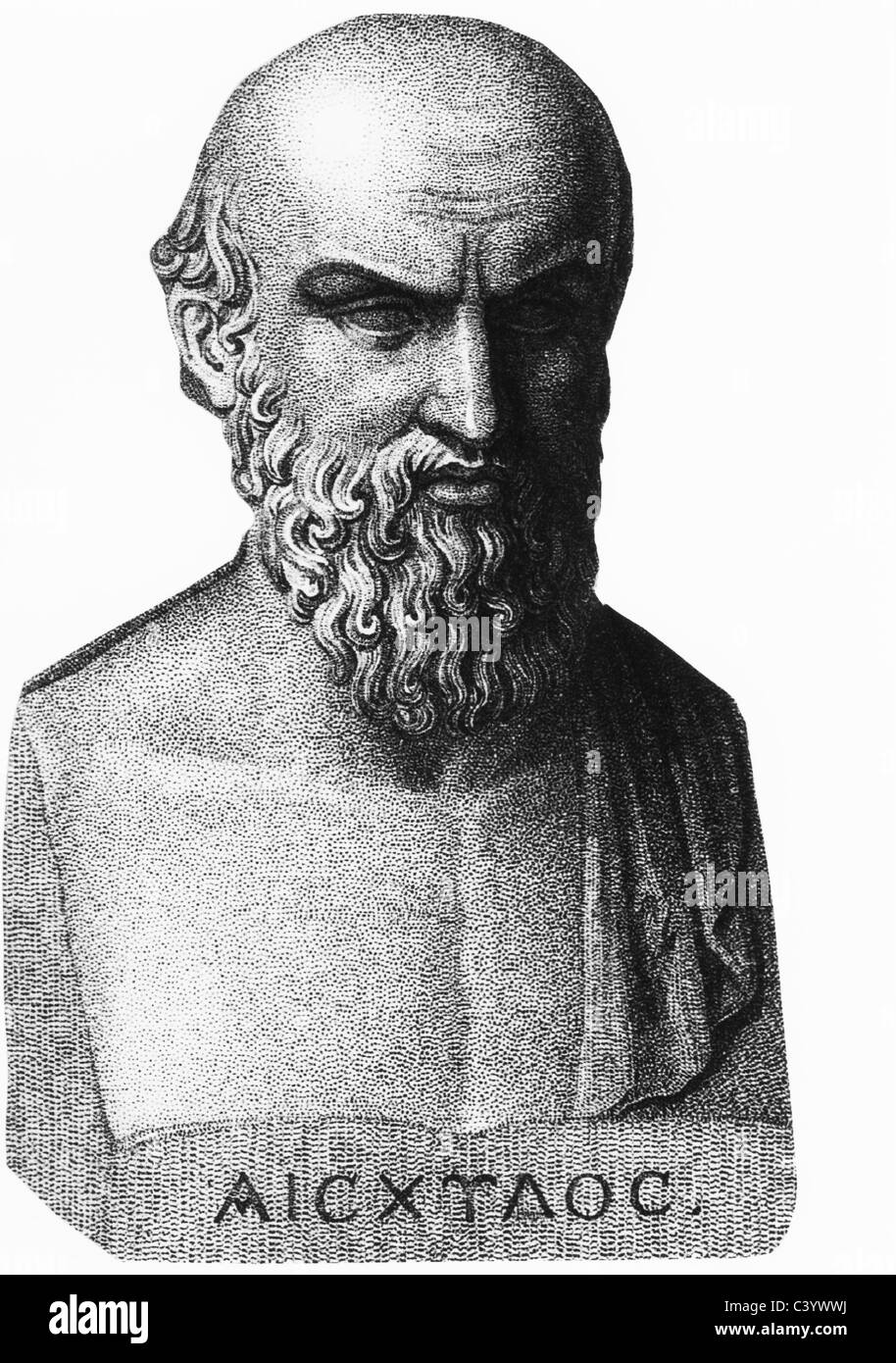 AESCHYLUS Greek tragedic playwright - Stock Image