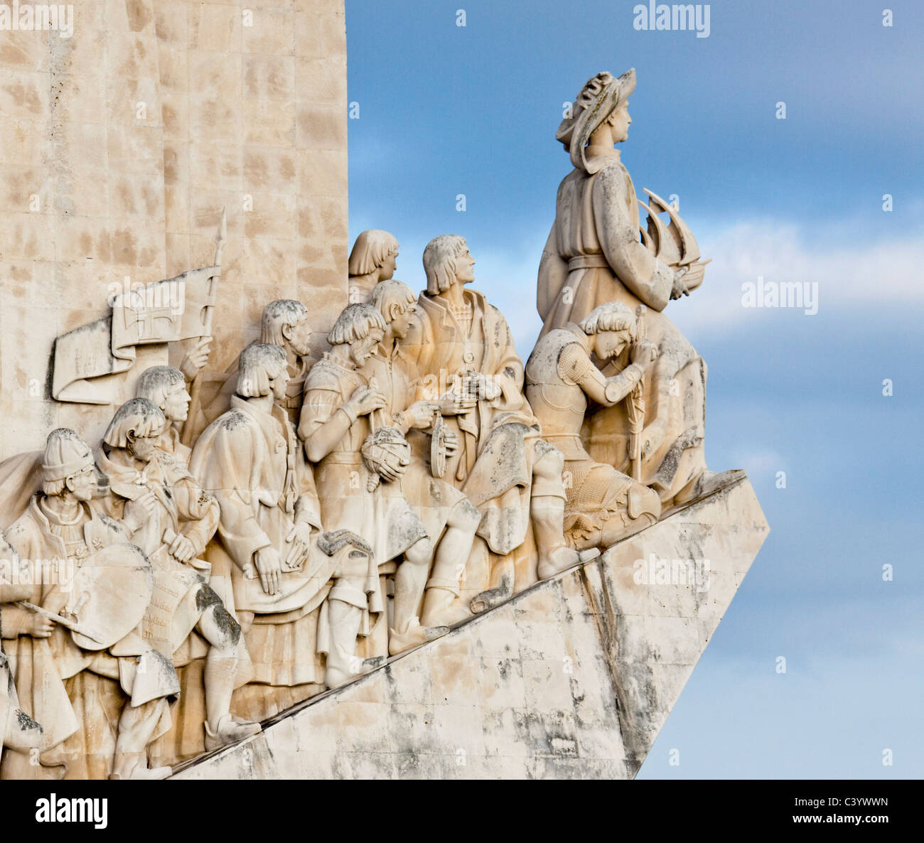 Portugal, Europe, Lisbon, discoverer monument, detail, art, skill, plastic - Stock Image