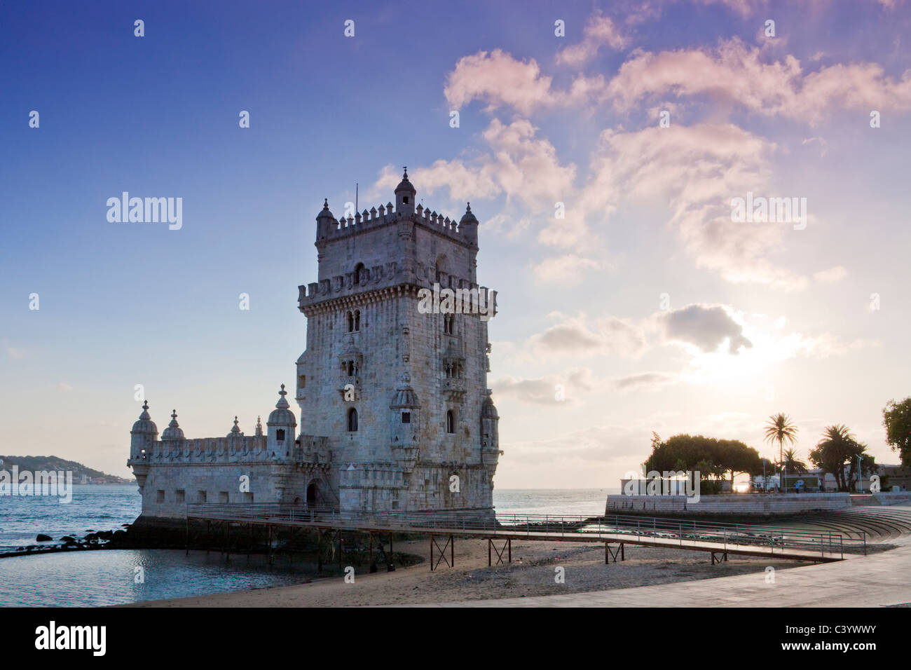 Portugal, Europe, Lisbon, Belem, tower, rook, UNESCO, world cultural heritage, - Stock Image