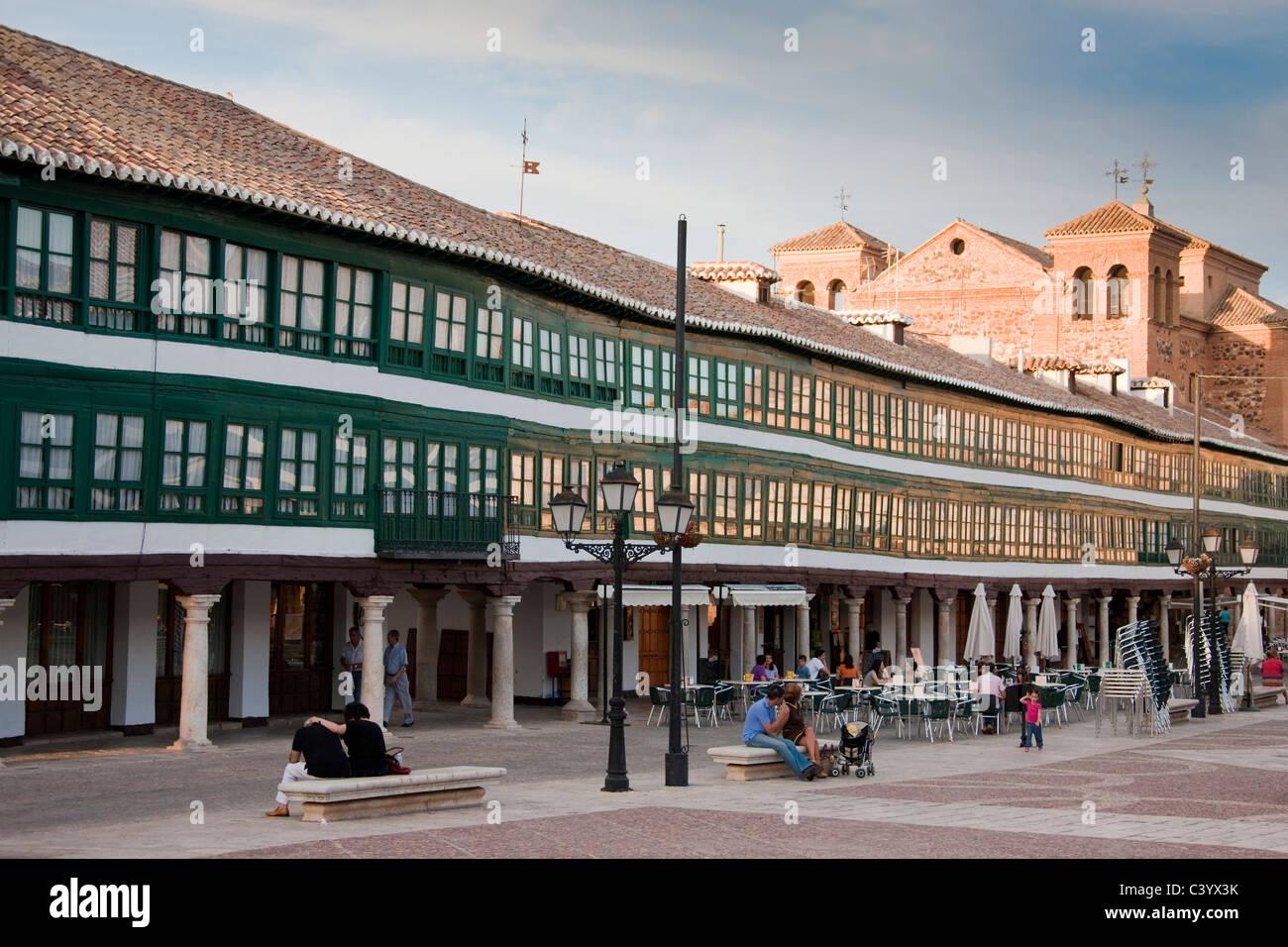 Spain, Europe, Spain, La Mancha, Almagro, mayor Burstting, building, construction, - Stock Image