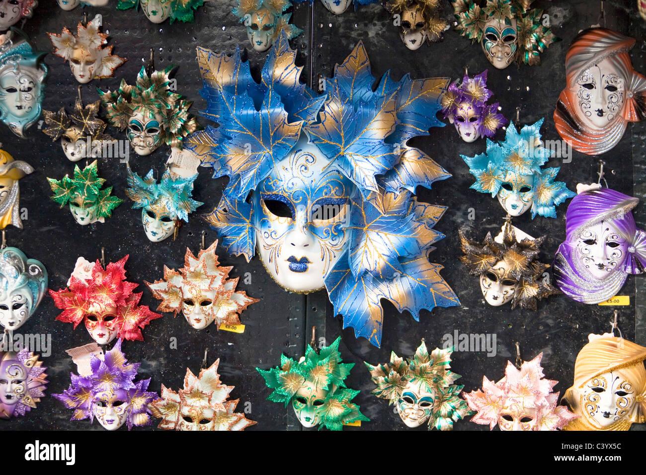 Italy, Europe, Venice, masks, symbol, draft, plan, - Stock Image