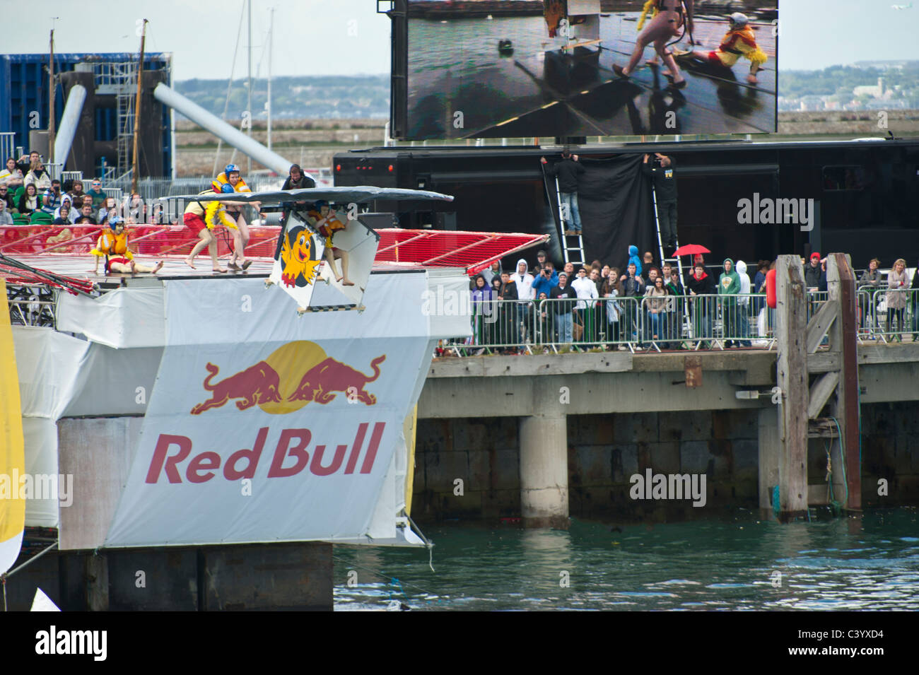Red Bull 100th Flugtag Dun Laoghaire Harbour - Co Dublin which took place on the 22.05.2011 - Stock Image