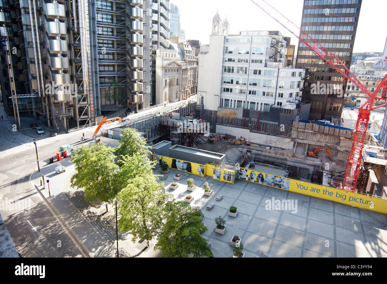 A overhead view of the Pinnacle building site - Stock Image