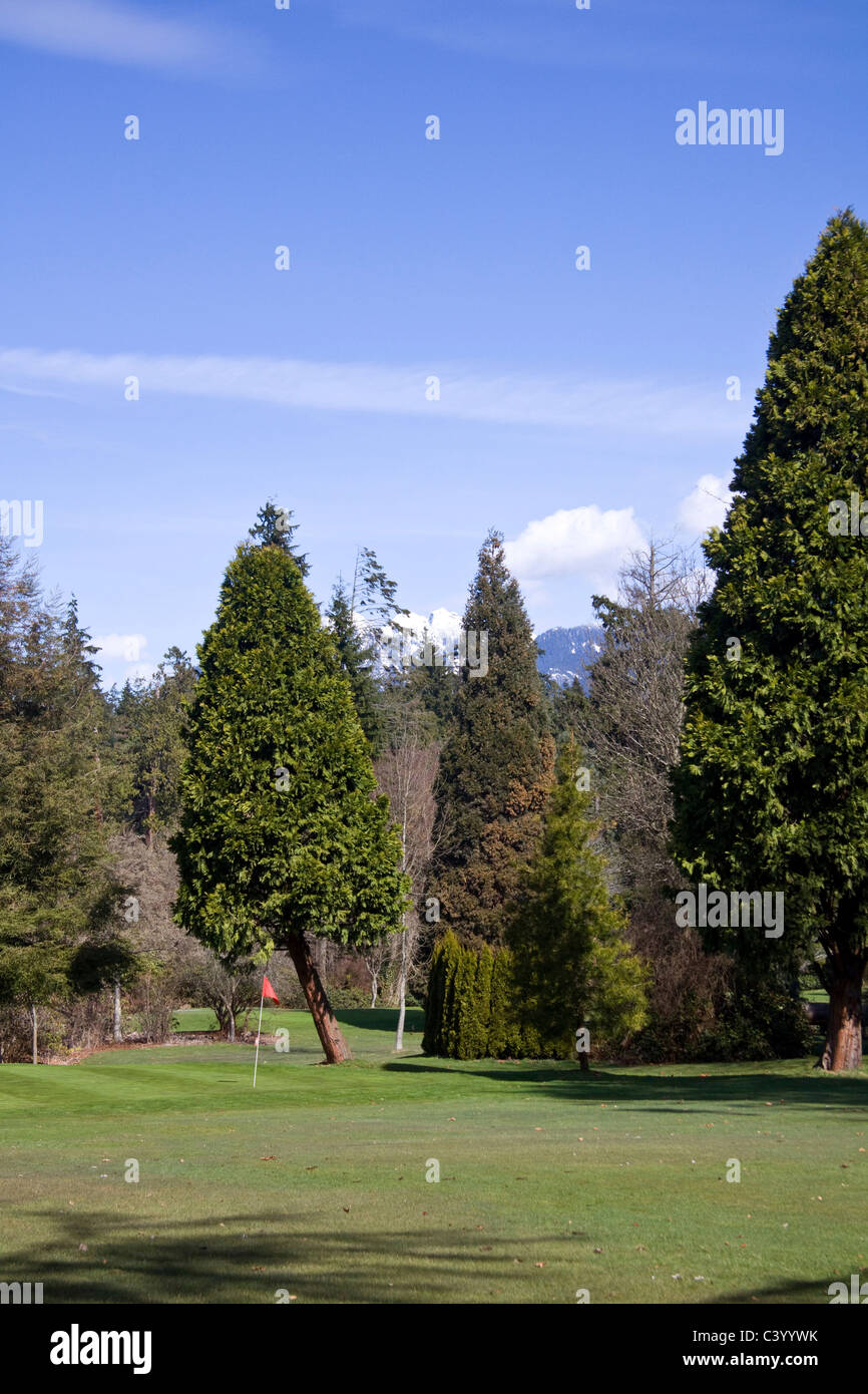 Pitch and Putt course at Stanley Park, Vancouver BC, Canada - Stock Image