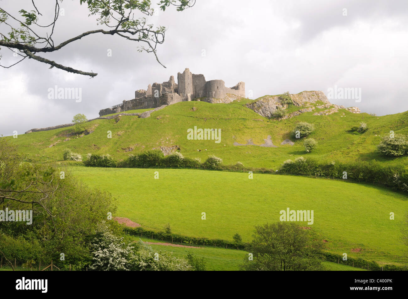 Carreg Cennen Castle, near Trap, Carmarthenshire, Wales - Stock Image
