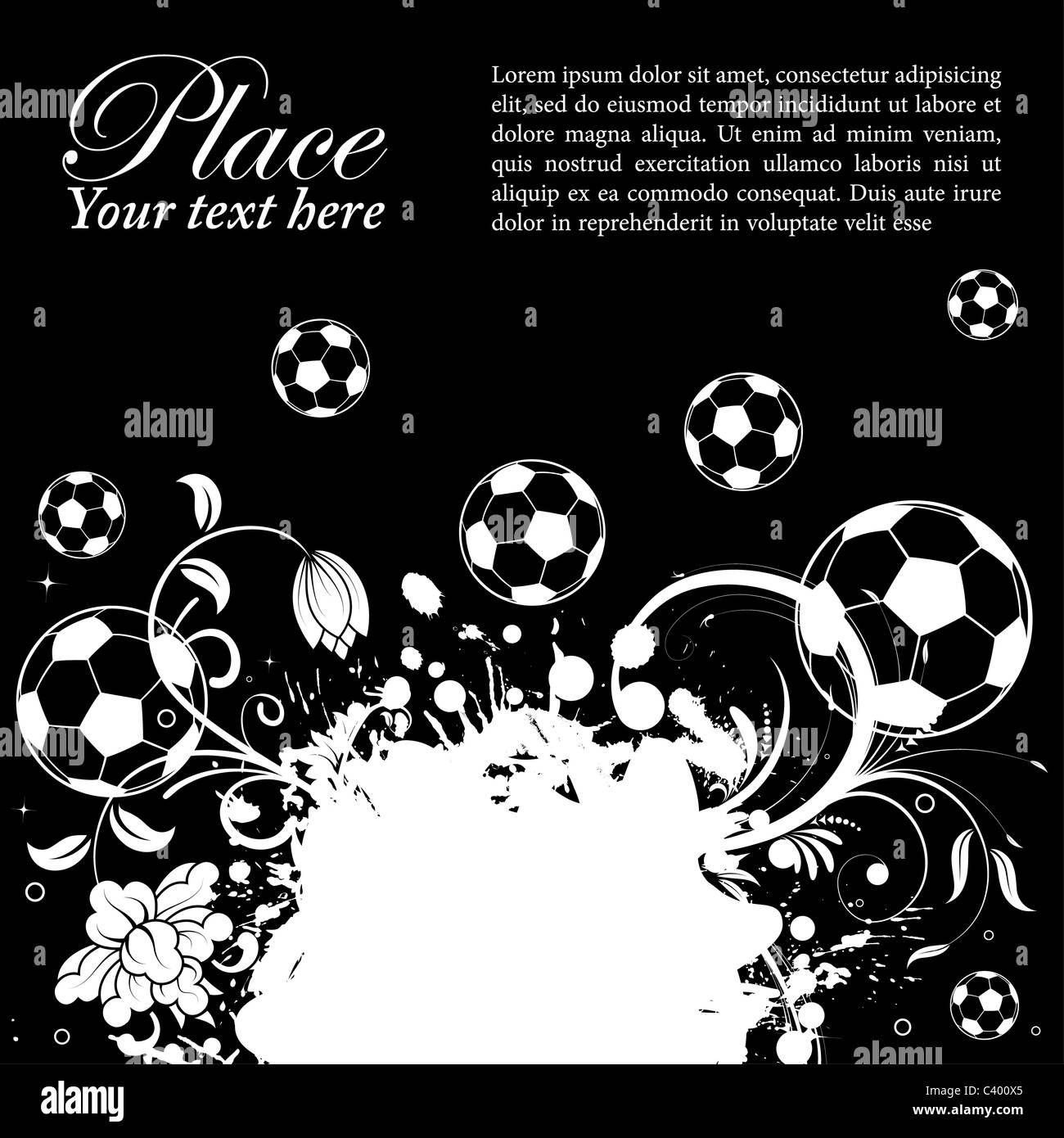 Soccer Poster Black White Black And White Photography