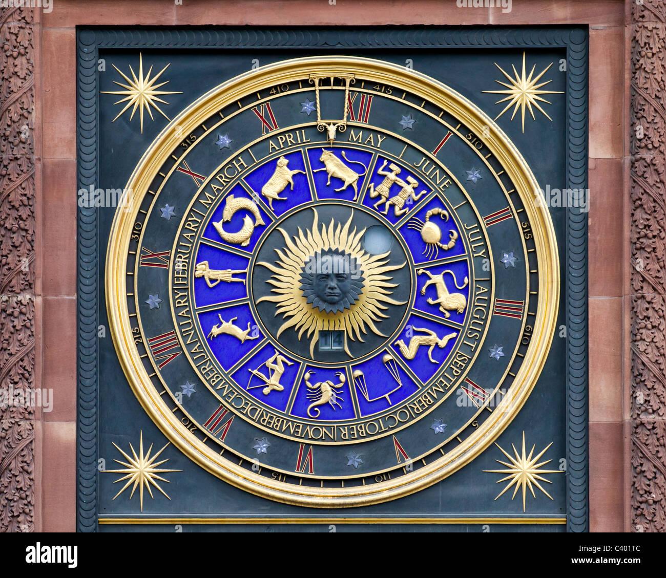 Zodiac Clock - Stock Image