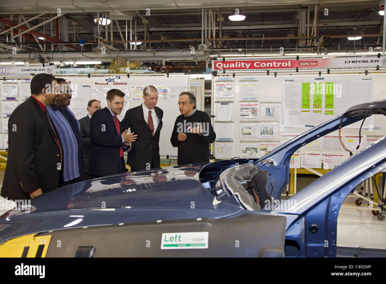 Chrysler Celebrates Repayment of Government Loans - Stock Image