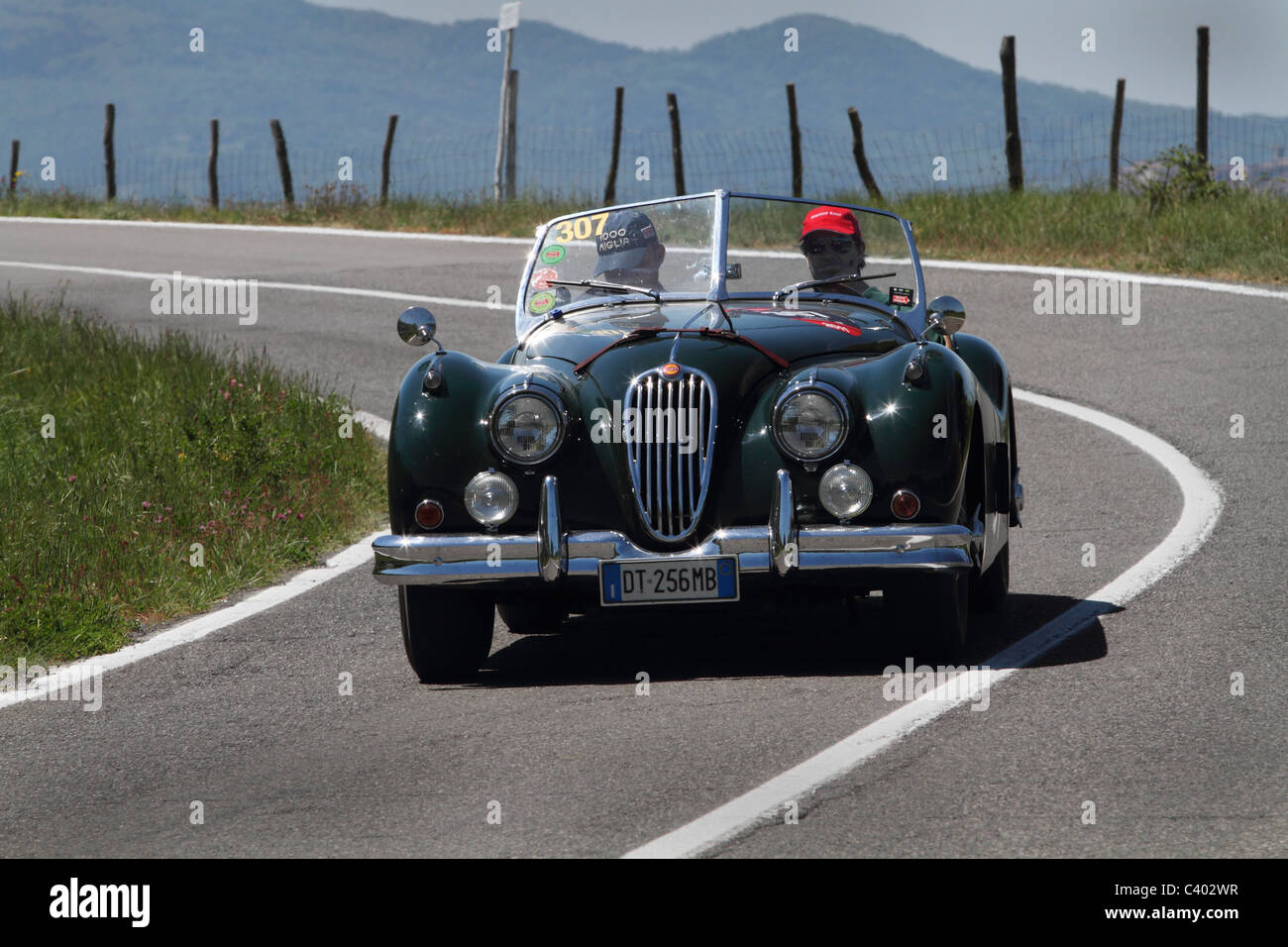Mille Miglia 2011 Jaguar - Stock Image