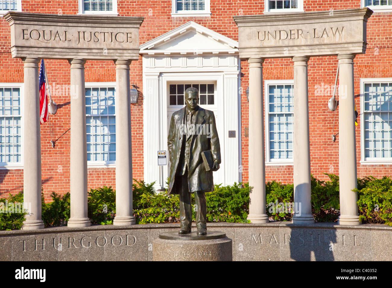 Thurgood Marshall statue, Annapolis, Maryland, USA - Stock Image
