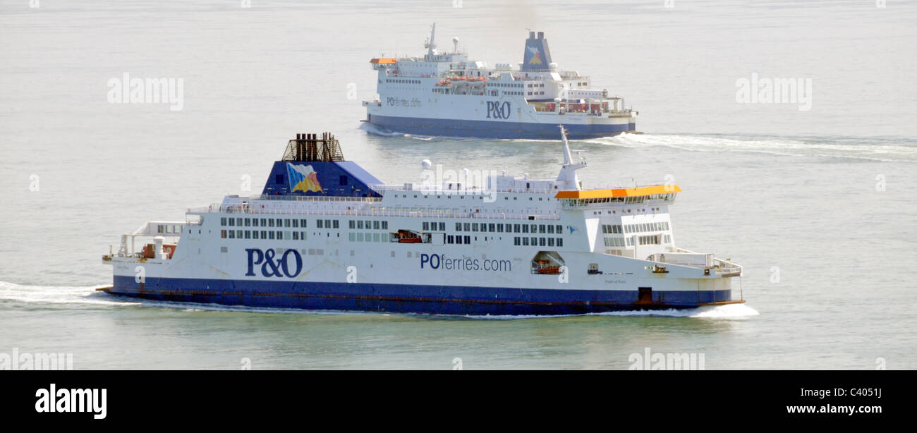 P&O Ferries in the Straits of Dover - Stock Image