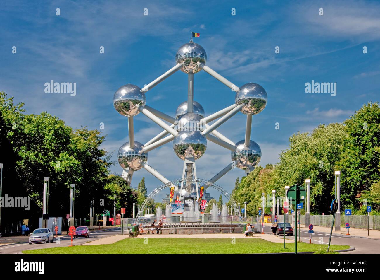 Belgium, Europe, Bruxelles, Brussels, Atomium, balls, sphere, architecture, around, building, construction, landmark Stock Photo