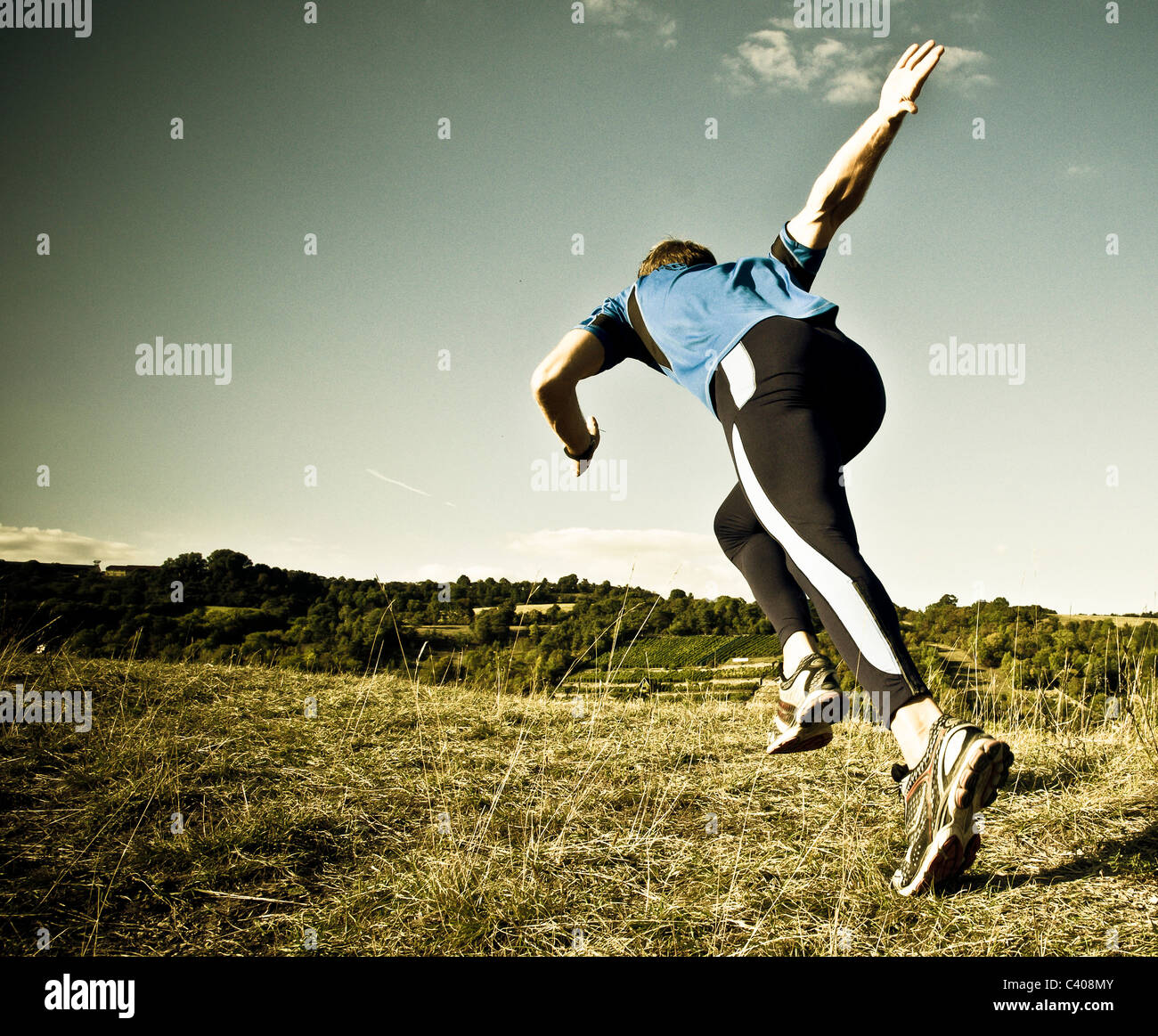 actively, activity, athlete, outside, outdoors, outside, one, individually, European, fit, fitness, spare time, - Stock Image