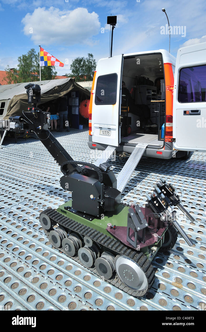 Robot of bomb disposal unit DOVO of the Belgian army, Belgium - Stock Image