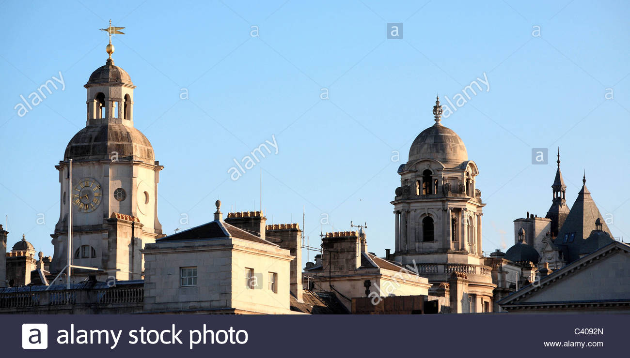 England, London, roofs of Whitehall - Stock Image