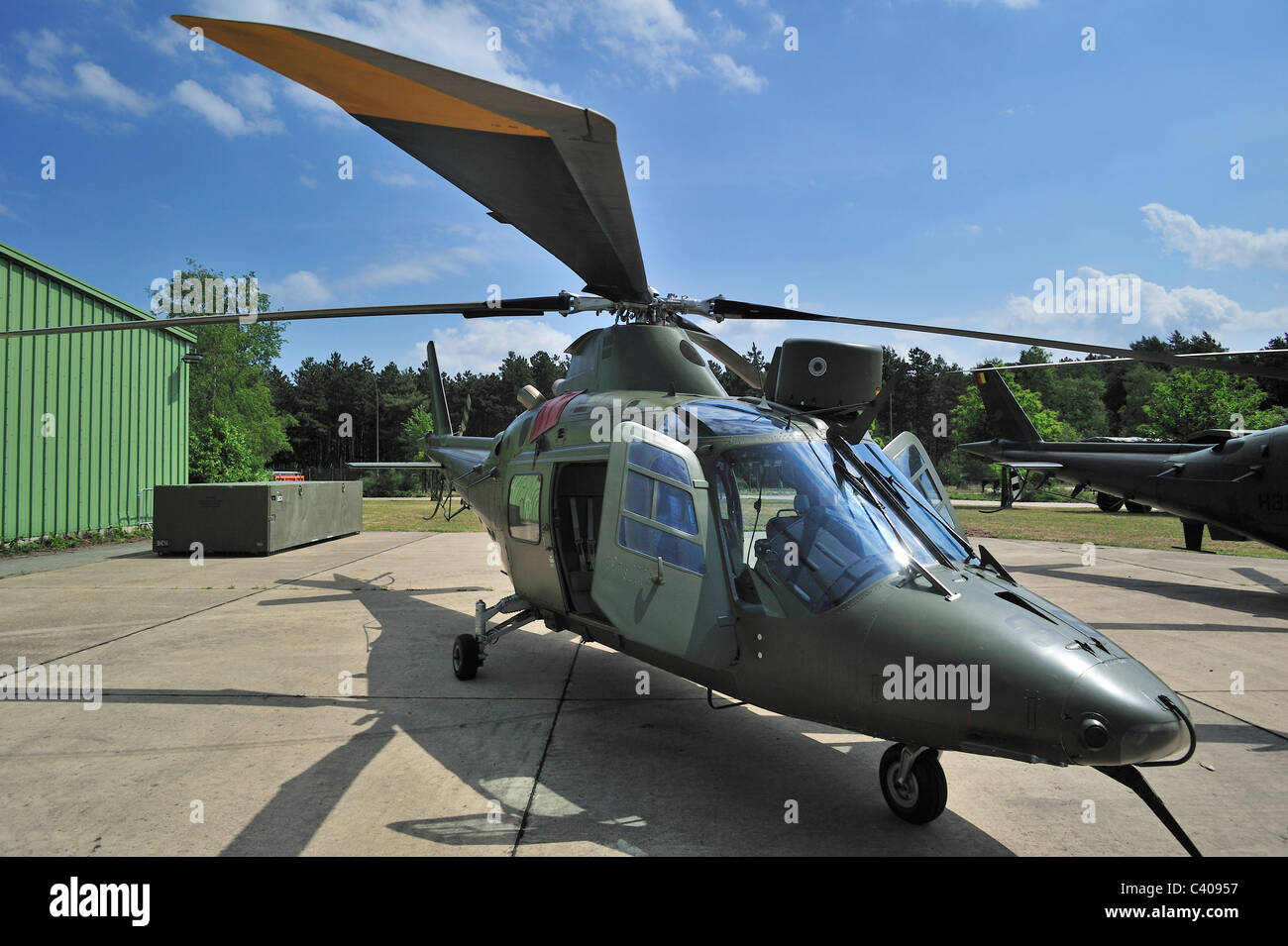 A-109 Agusta / AgustaWestland AW109 helicopter of the Belgian Air Component, Belgium - Stock Image