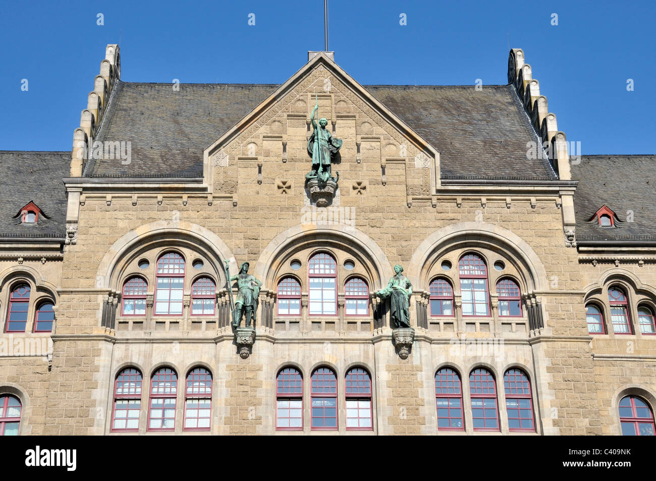 BWB, Germany, building, construction, Europe, Koblenz, Prussian, government building, Rhine arrangements, Rhineland - Stock Image