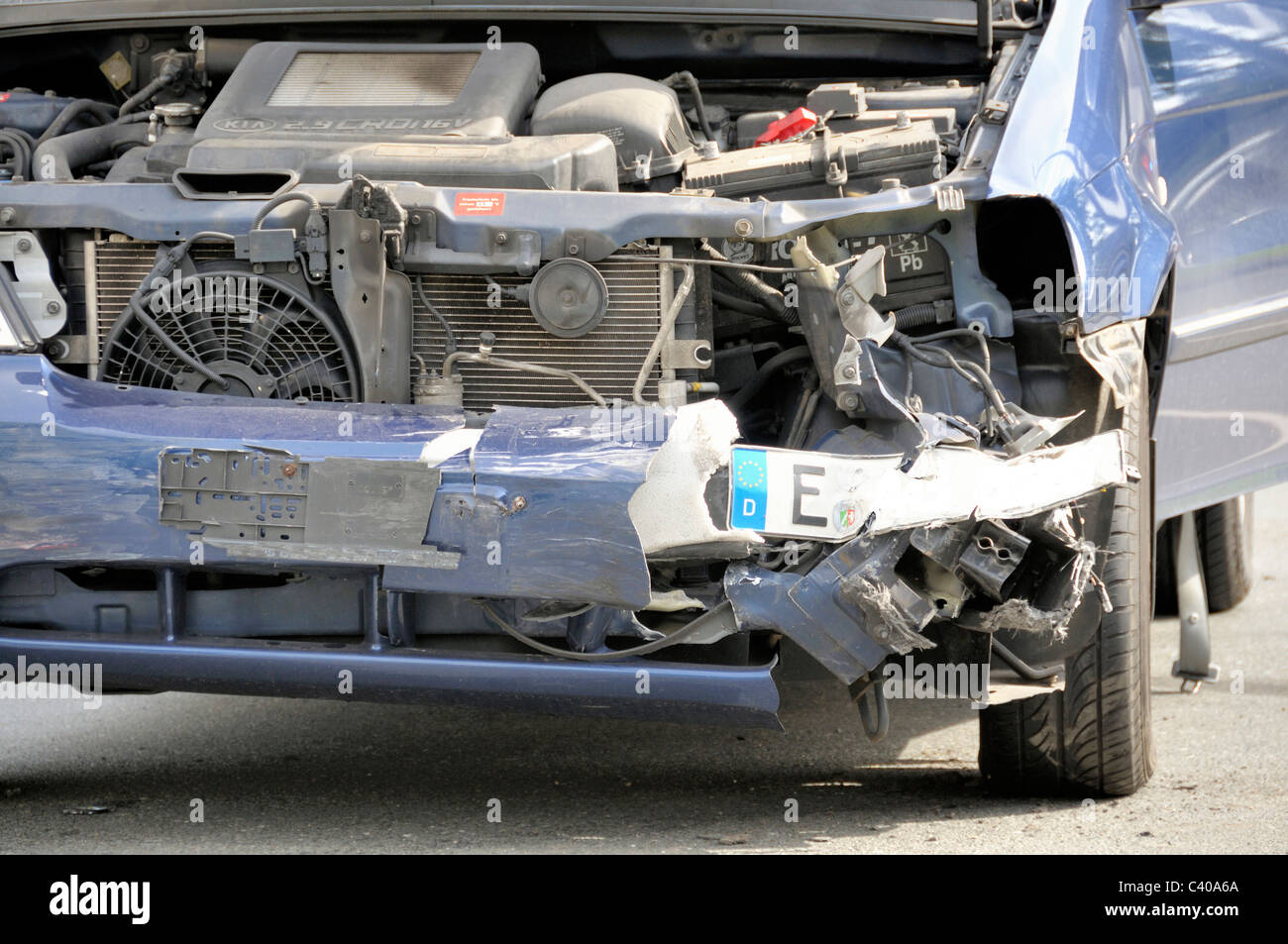 Germany, Europe, traffic accident, car, automobile, wreck, broken