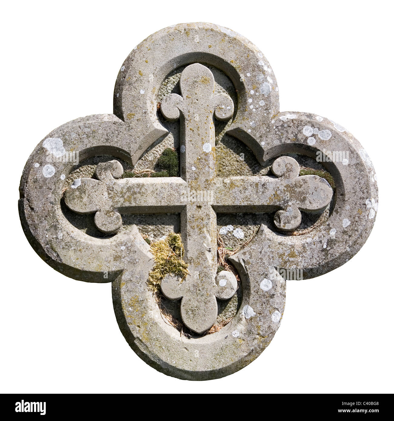 Carved Stone Cross - Stock Image