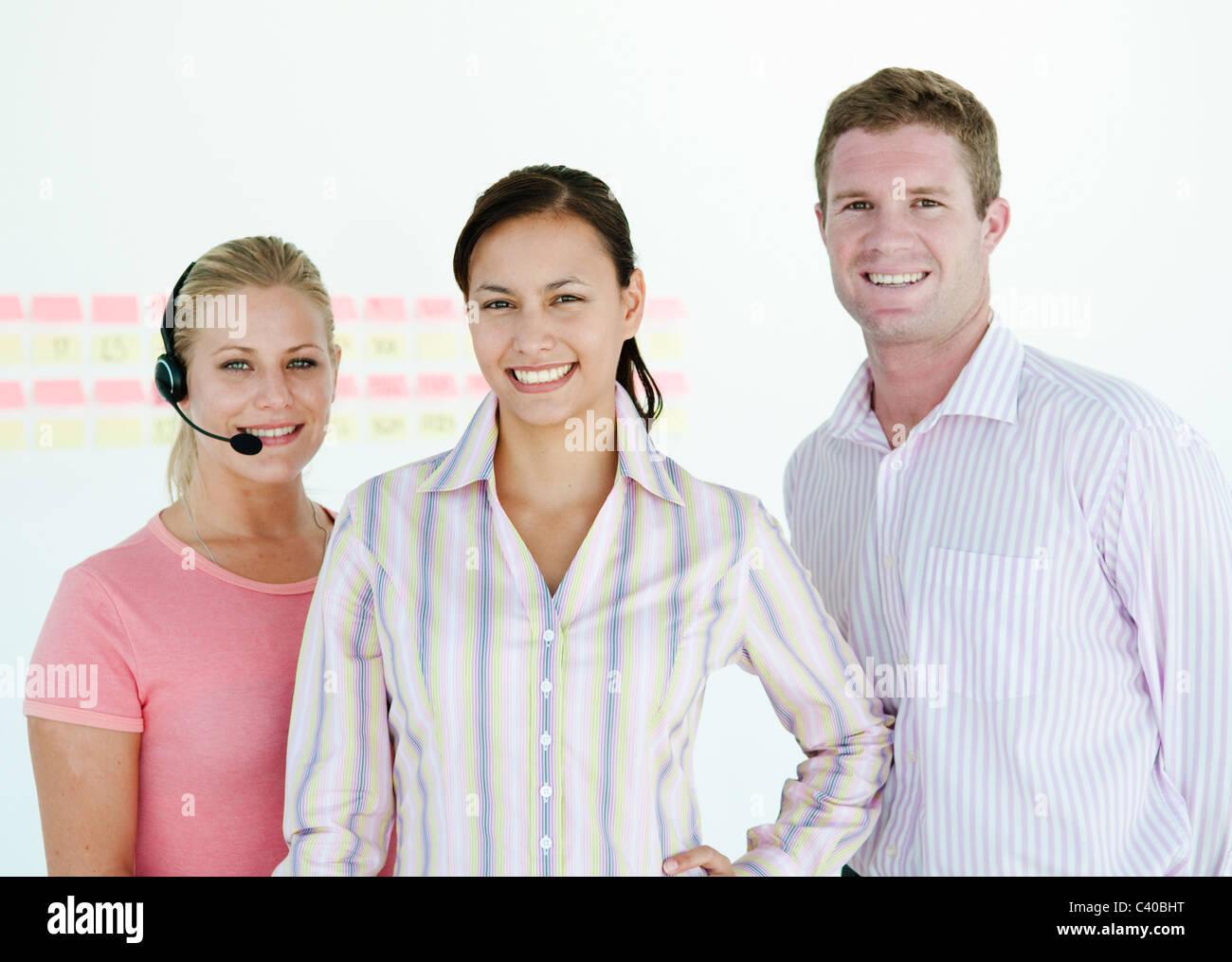 Confident sales team - Stock Image
