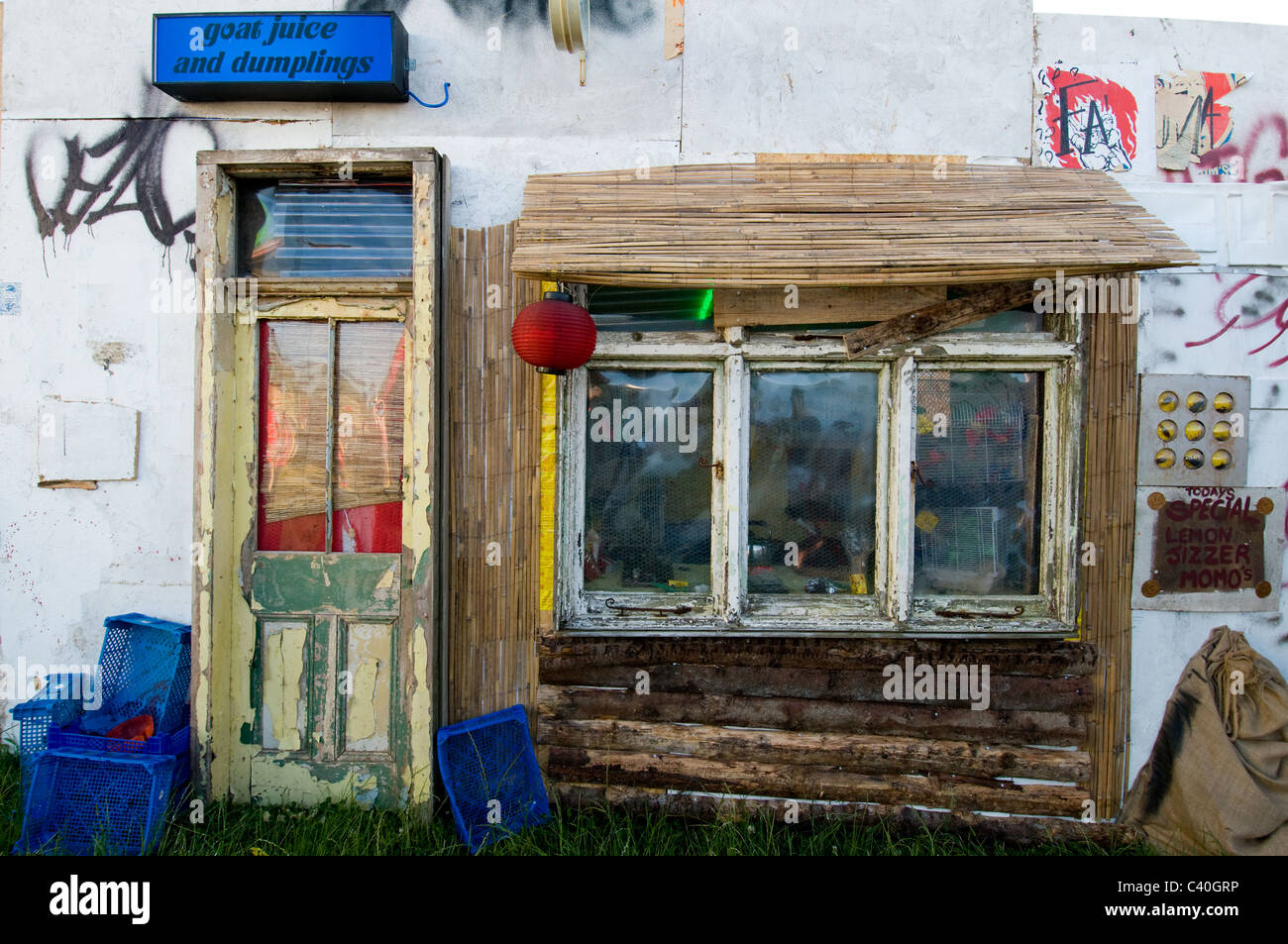 Derelict Shop Front Door Sculpture Art Goat Juice Dumpling