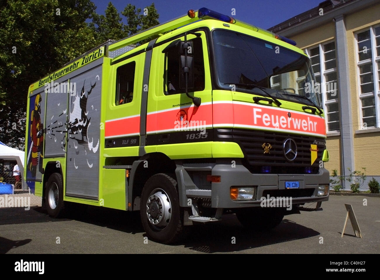 Awesome Mercedes Fire Truck   Stock Image