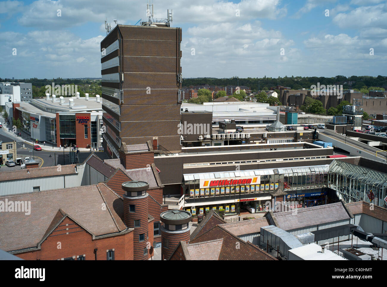 Walsall town centre. - Stock Image