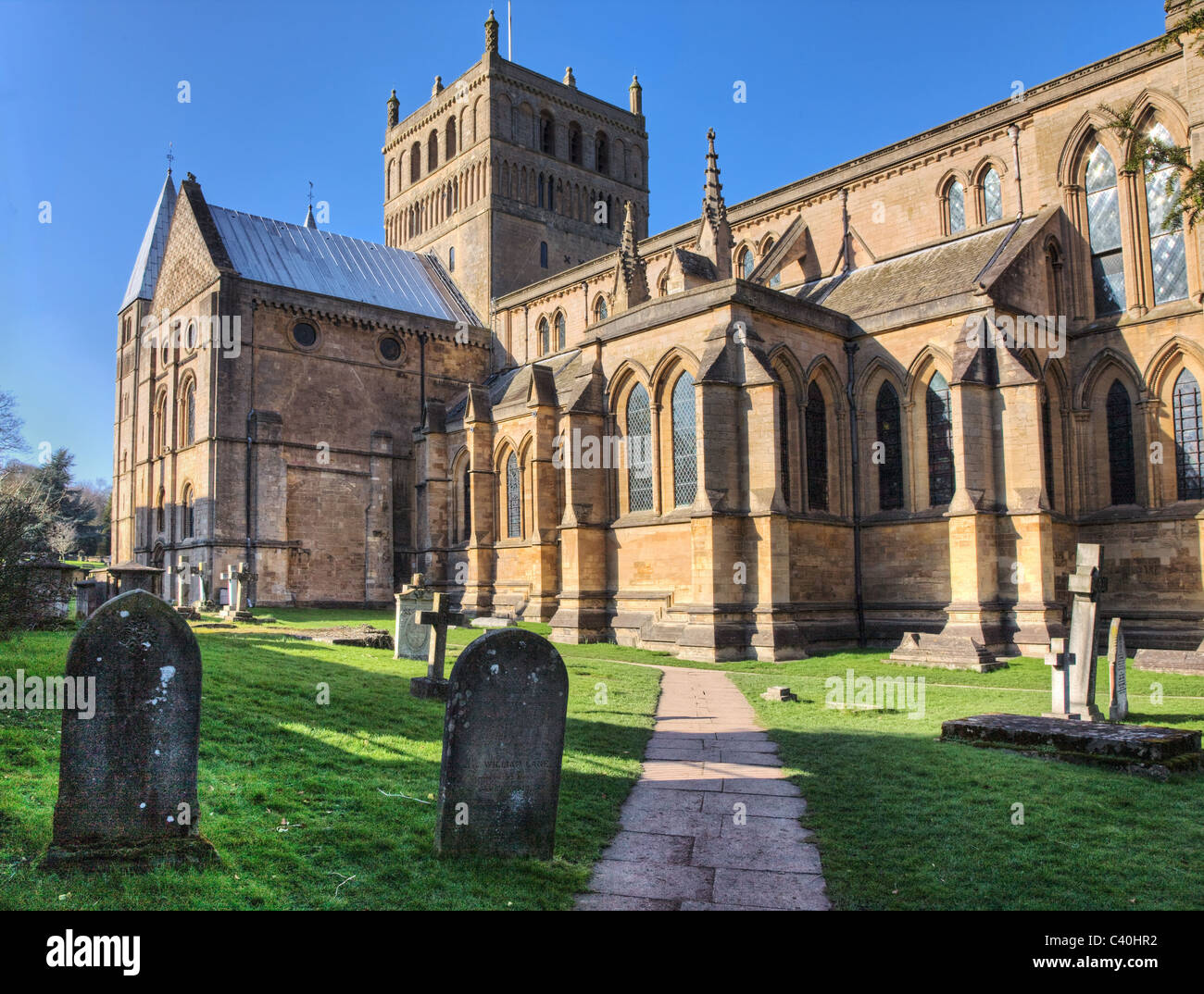 Southwell Minster in Nottinghamshire  south aspect - Stock Image