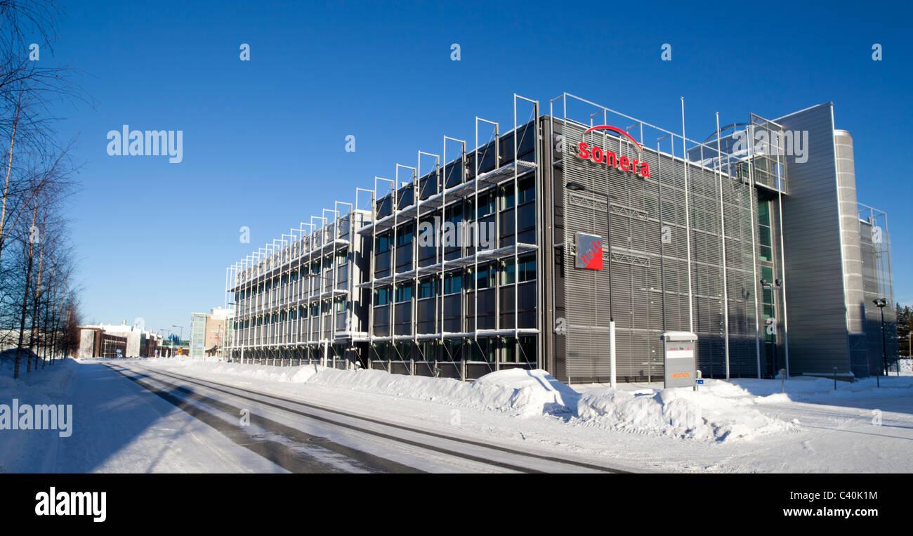Oulu Technology Park ( Technopolis ) buildings at Elektroniikkatie street Oulu Finland - Stock Image