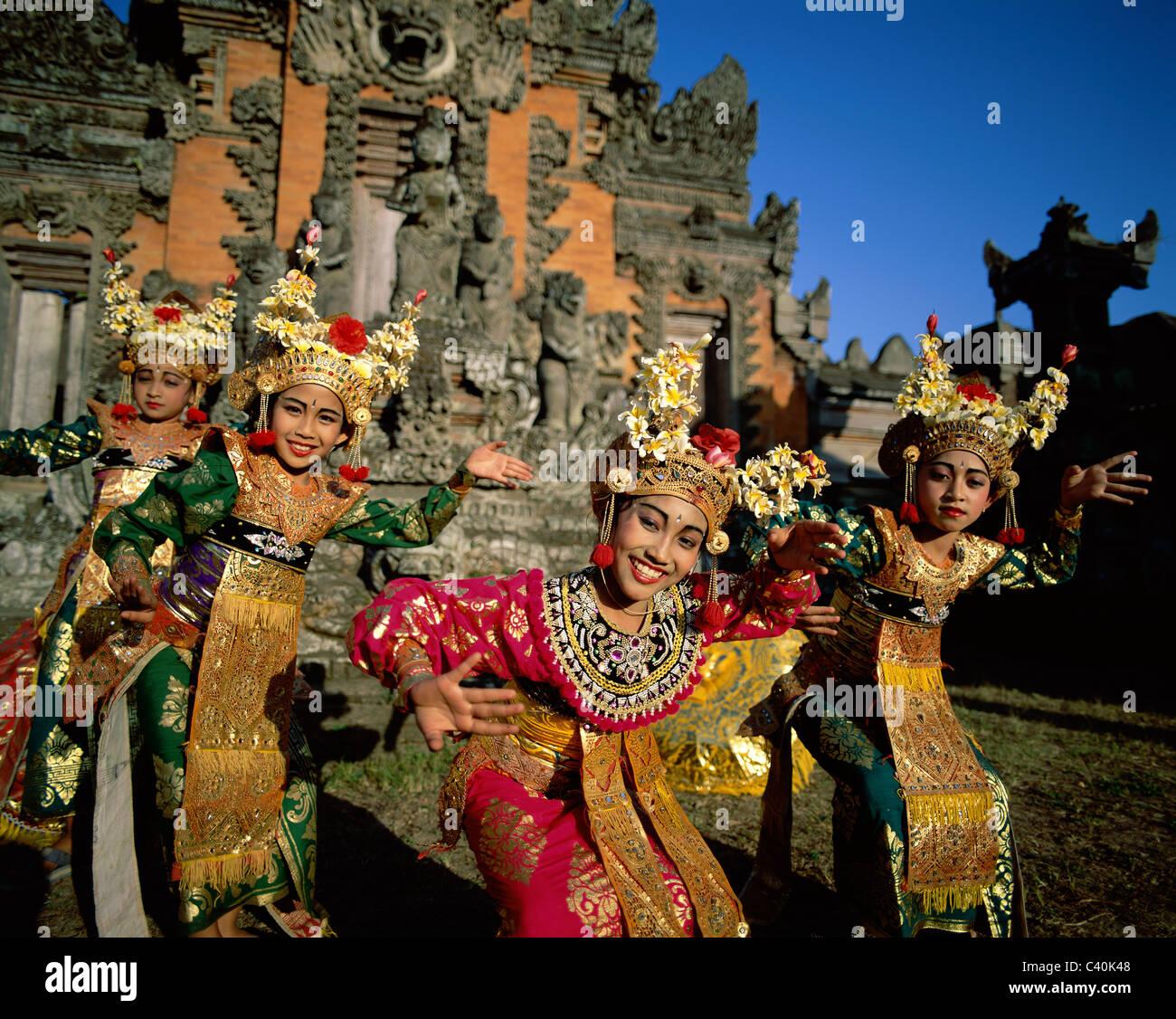 Bali Asia Balinese Costumes Dance Dancers Dancing Elaborate