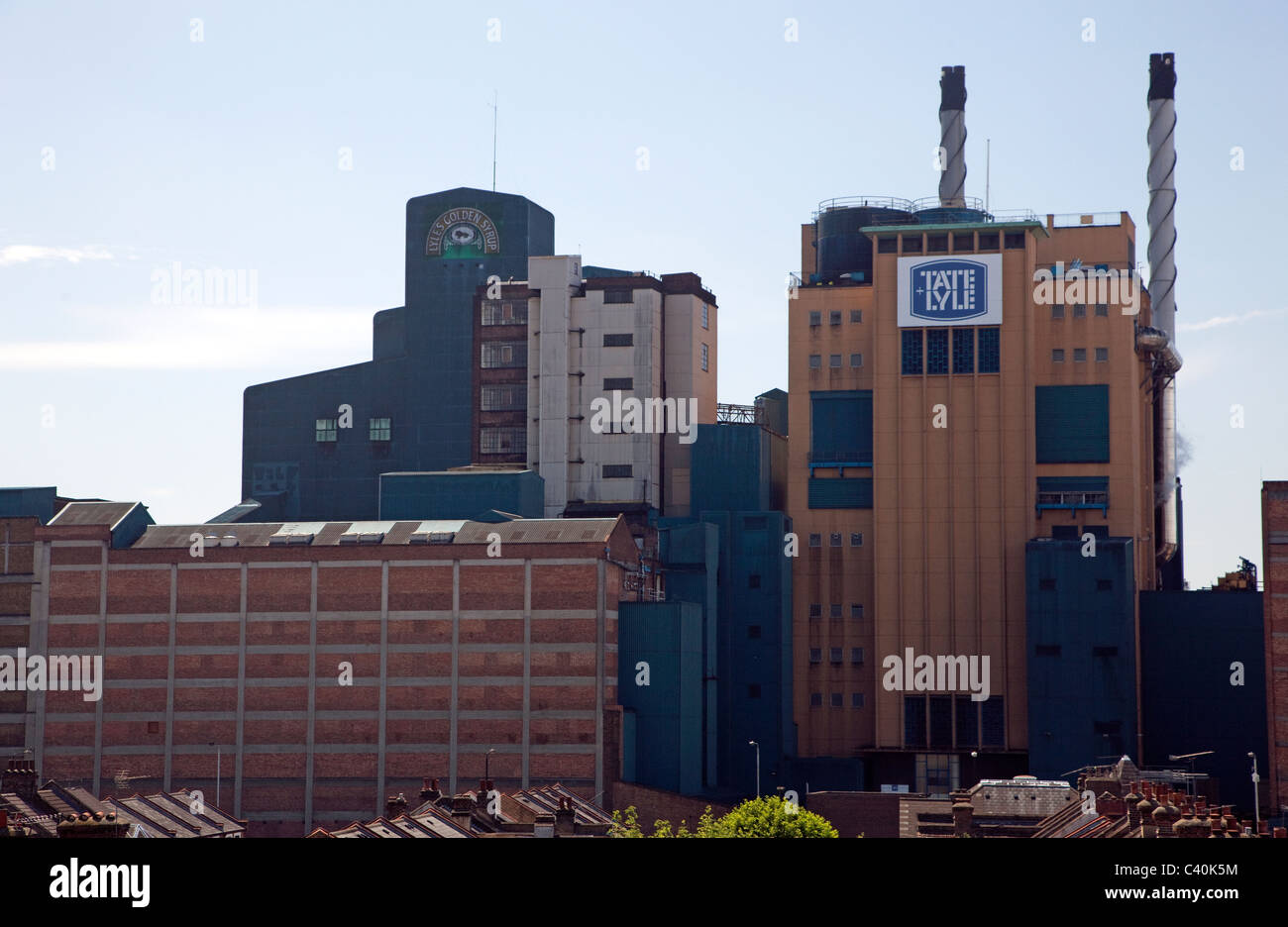 Tate & Lyle Thames Refinery, Docklands, London - Stock Image