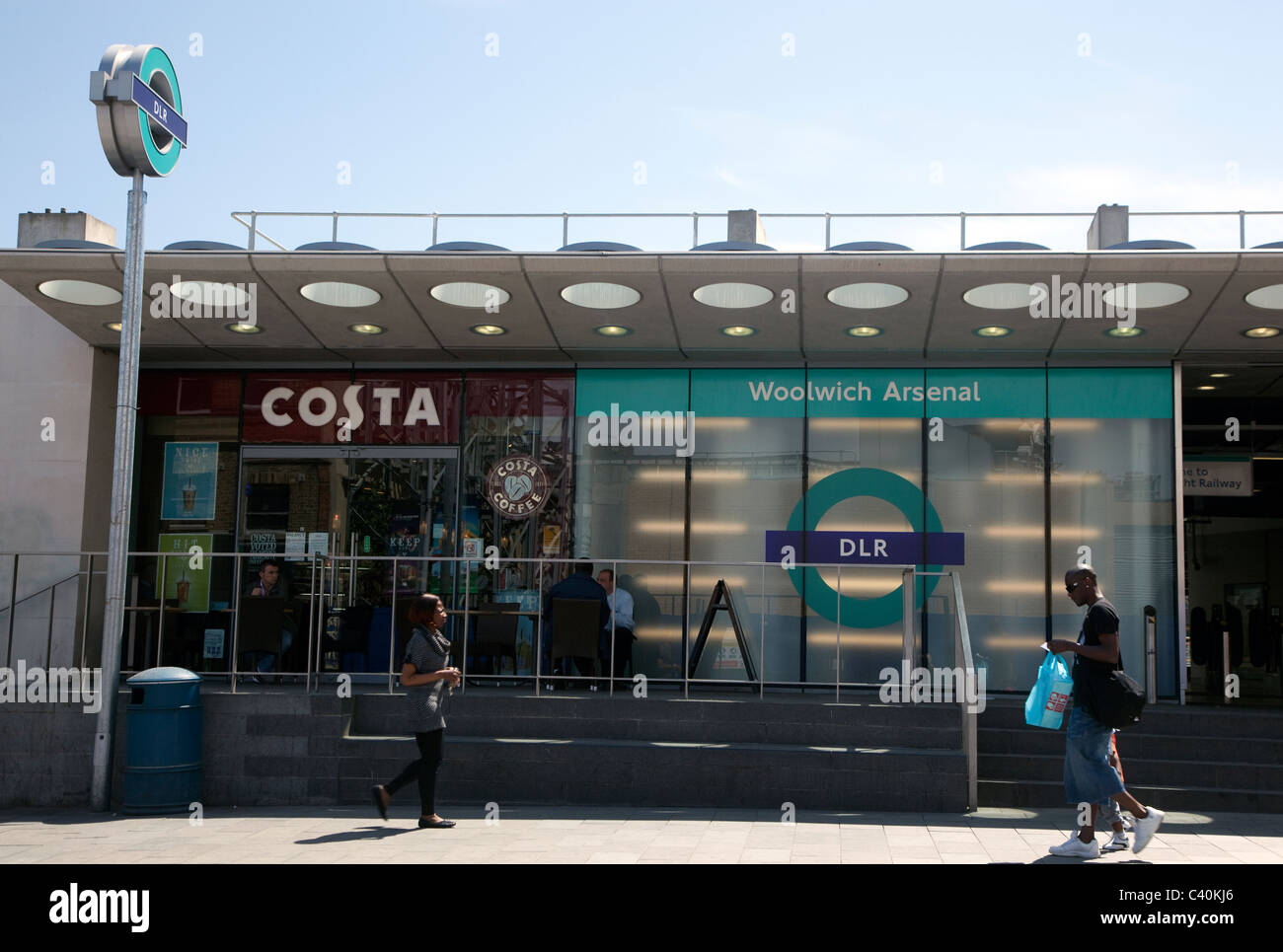 Woolwich Arsenal Docklands Light Railway station, London - Stock Image