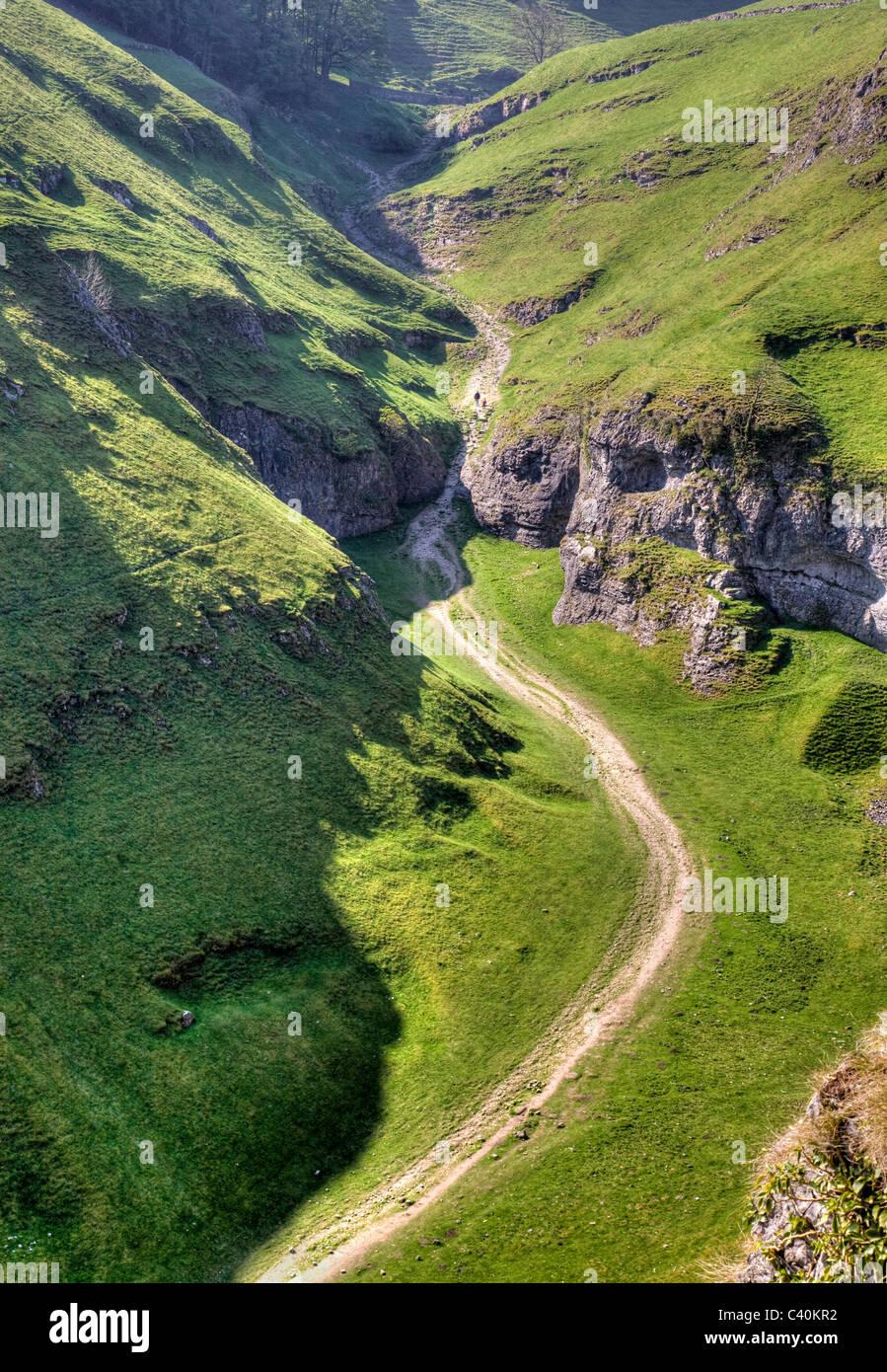 Cave Dale Castleton in the Derbyshire Peak District - Stock Image