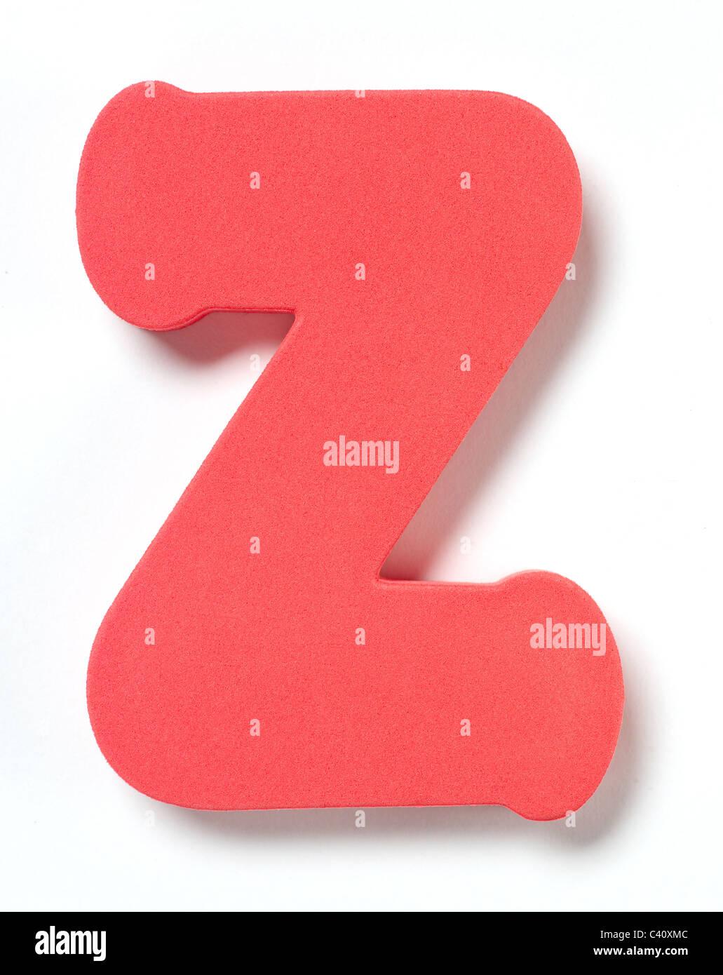 Foam letter Z - Stock Image