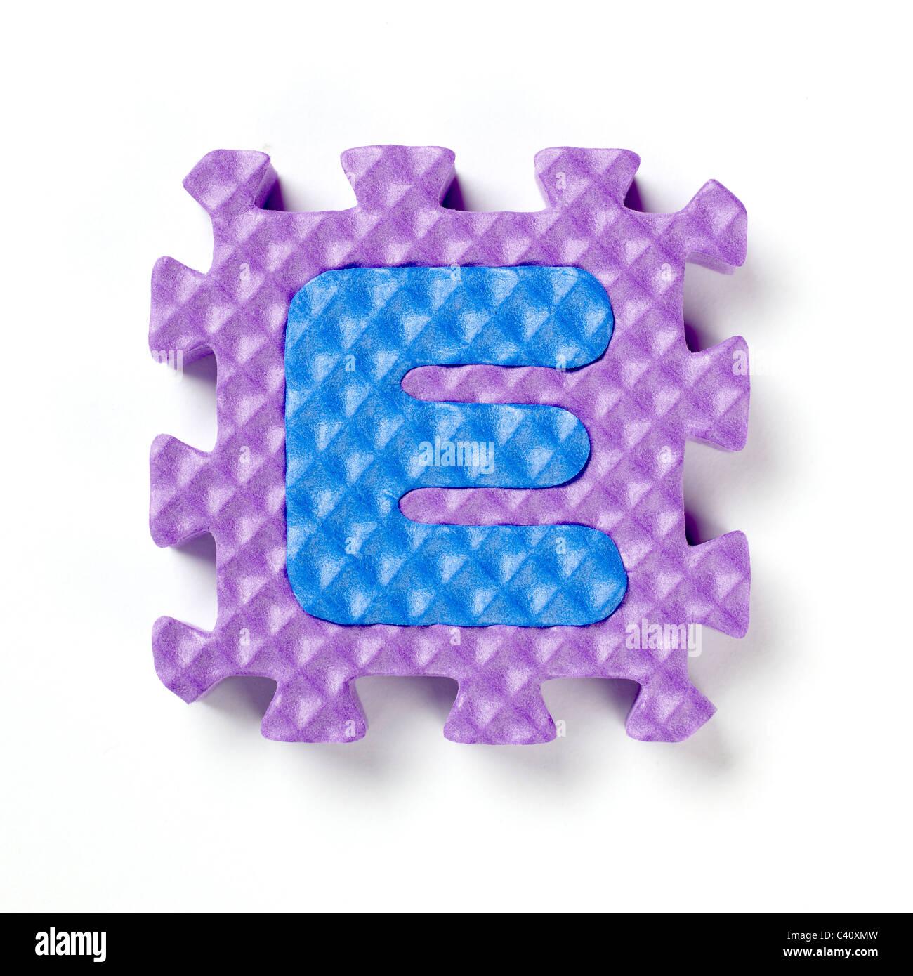 E alphabet stock photos e alphabet stock images alamy alphabet puzzle piece e stock image thecheapjerseys Choice Image